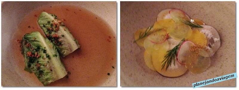 Restaurante Loam em Galway - primeiro prato