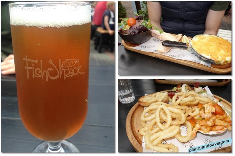 Malahide - FishShack - pratos e cerveja