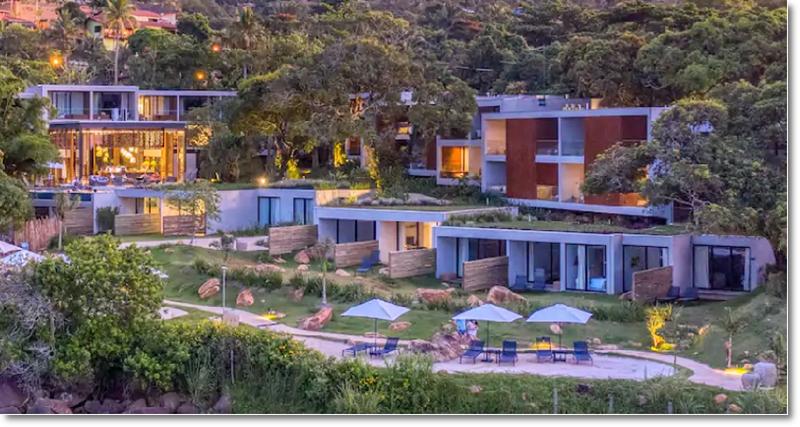 Vista aerea do Hotel Casa di Sirena - casadisirena.com.br