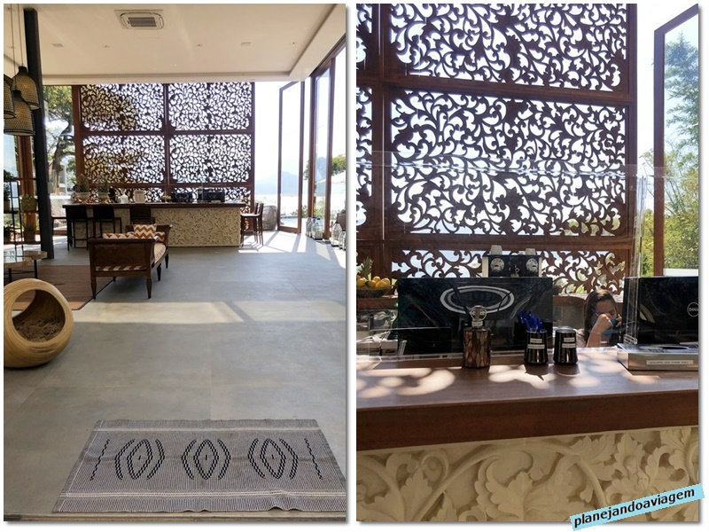 Hotel Casa di Sirena - Recepcao e detalhes protocolos seguranca