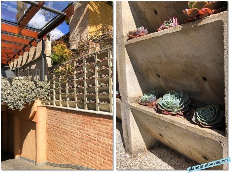 Campos do Jordao - Hotel Italia Eleganza - detalhe suculentas entrada garagem