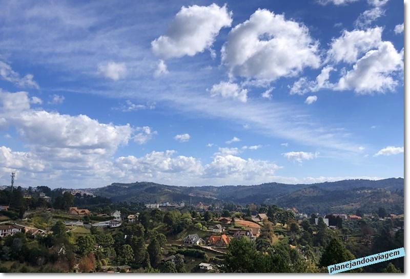 Campos do Jordao - vista da cidade do Alto do Capivari