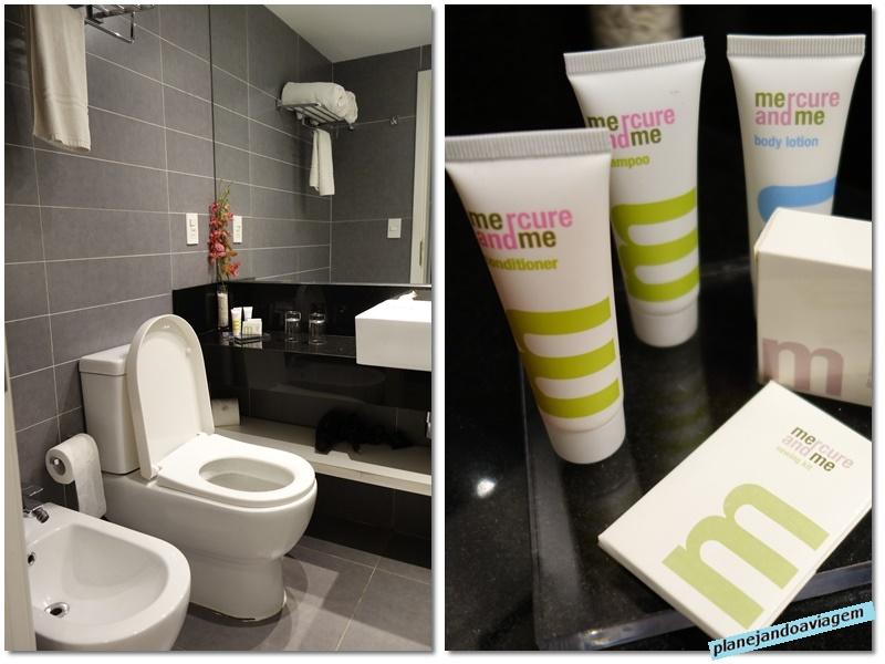 Montevideu - Hotel Mercure - banheiro