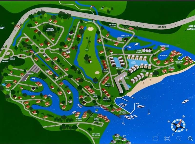 Mapa do Condominio Porto Frade