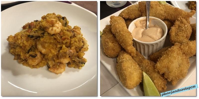 Pratos de peixe no Bistro Angra Boutique Hotel