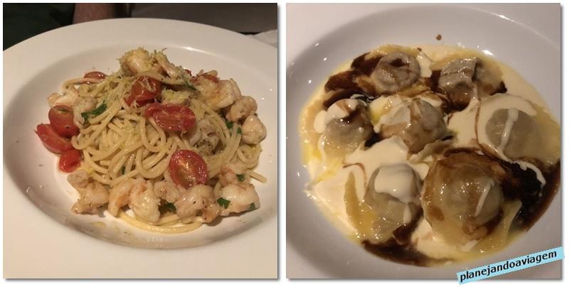 Restaurante Fasano Crudo - pratos principais