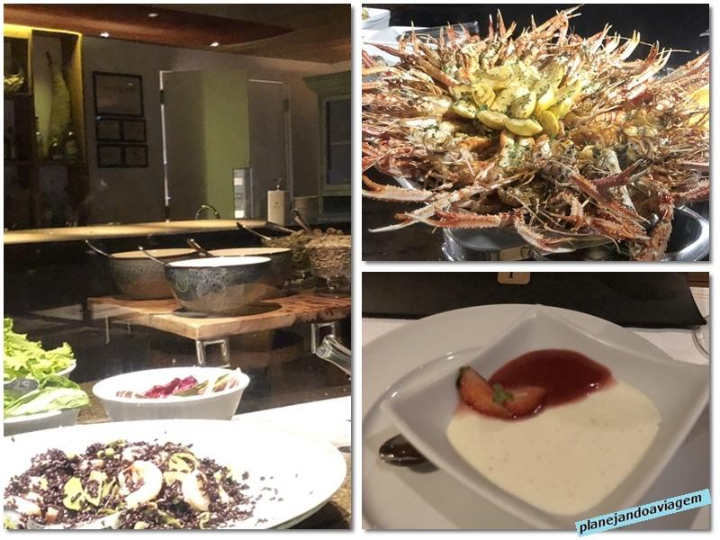 Jantar incluido na diaria - meia-pensao - servido no Restaurante Praia