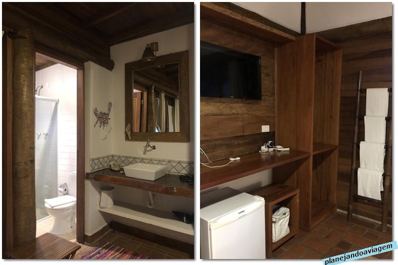Quarto - tipologia Suite Superior (quarto - detalhe banheiro e armarios)