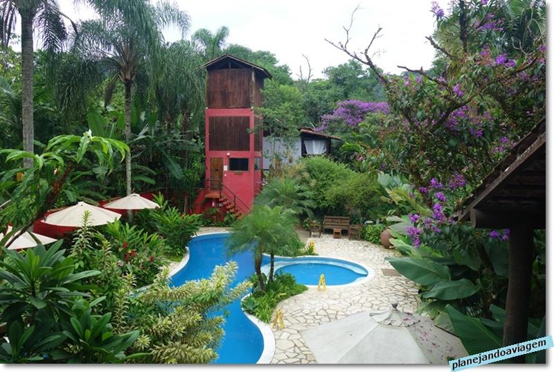 Villa Manakas - vista da piscina e sauna a partir do Loungue