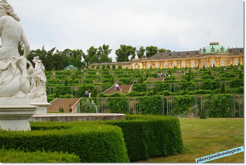 Palácio Sanssouci e o Jardim de vinhas