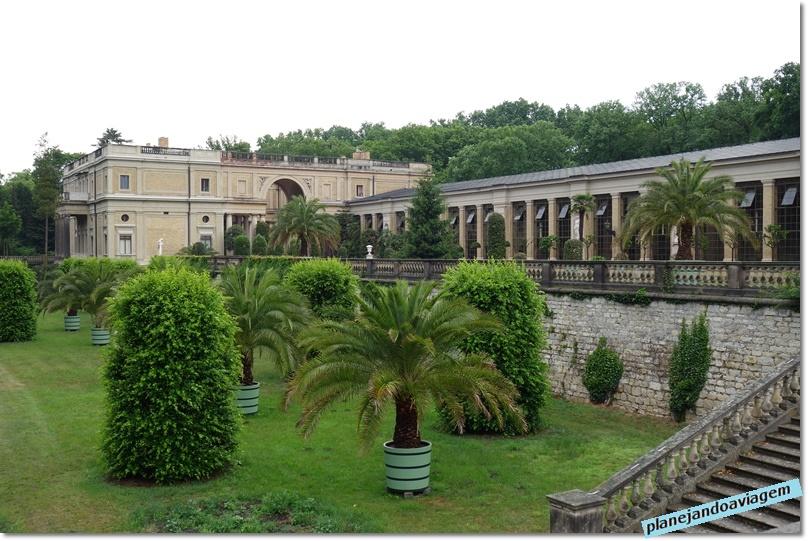 Palácio do Laranjal - Orangerie - e seu jardim siciliano