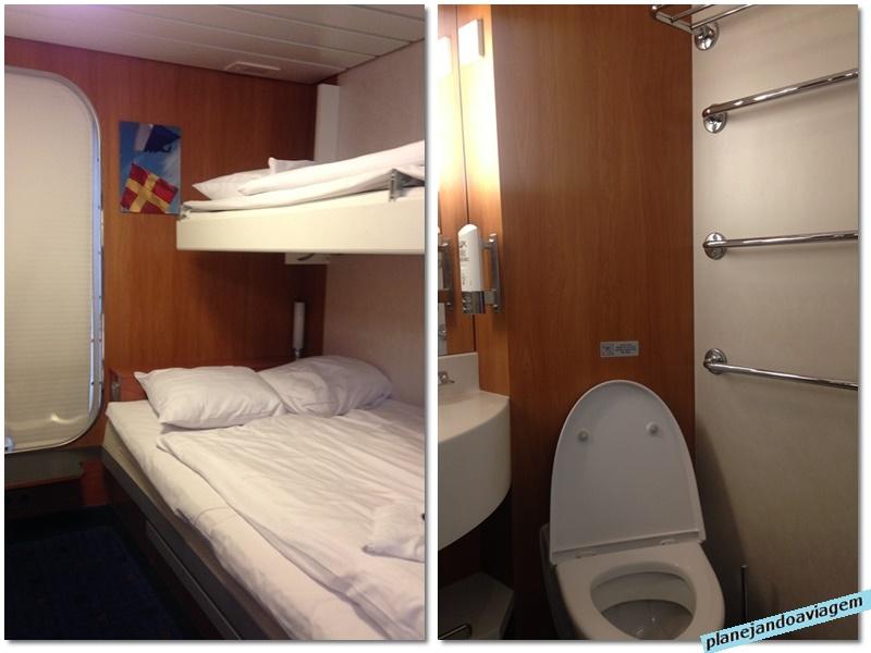 Stena Britannica - detalhe cabine e banheiro